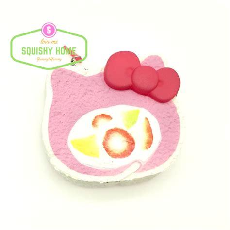 Soft And Slowrise Squishy Pikachu kuutti squishy 1 pc pink kawaii hello cat squishy soft rise jumbo swizz roll cake bread