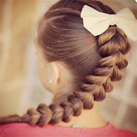 sharp and nice braid styles pull through pull through braid and hairstyles for girls