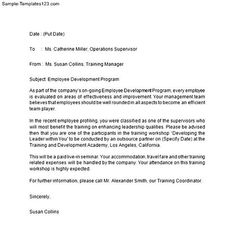 appointment letter format for trainer offer letter for sle templates sle