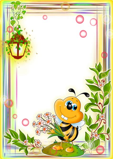 babayaga minialbumes forgetmenot насекомые пчелы рамки bees stationary and clip art
