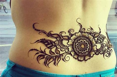 lower back henna tattoo designs henna mehndi designs idea for lower back tattoos