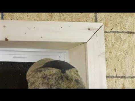 Install Door Trim by How To Cut Install Window Trim Trim Installation