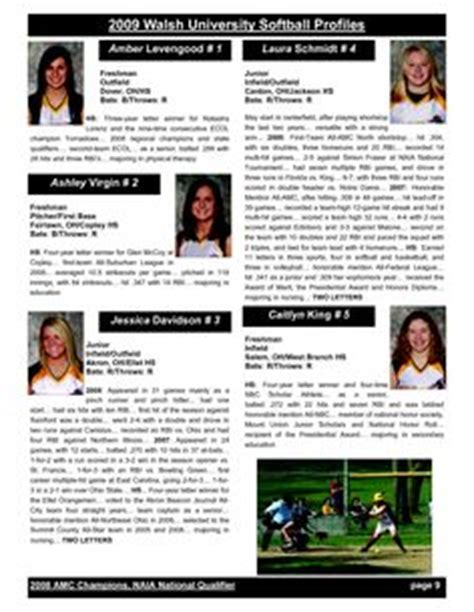 Softball Profile Sle Player Profile Central Pennsylvania Krunch Softball Softball Softball Profile Template Free