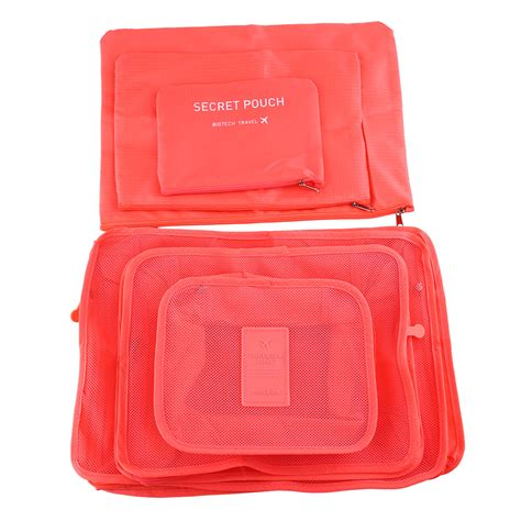Waterproof Storage Bag 6pcs waterproof travel storage bags clothes packing cube