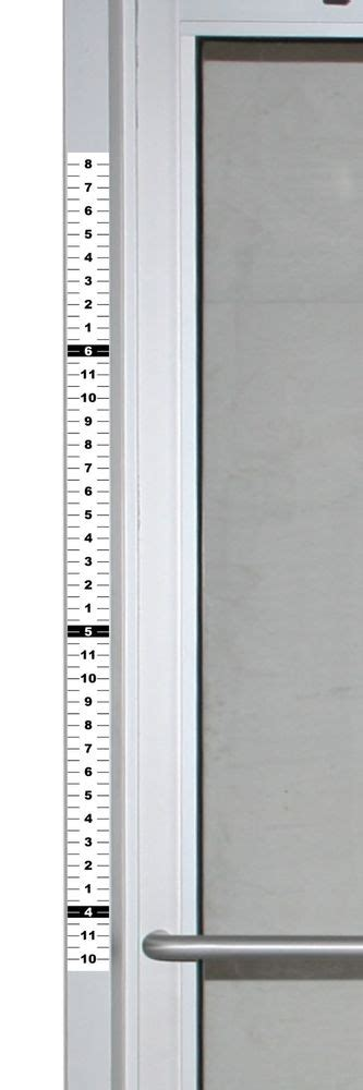 set of 4 security height ruler for door frame 1 75
