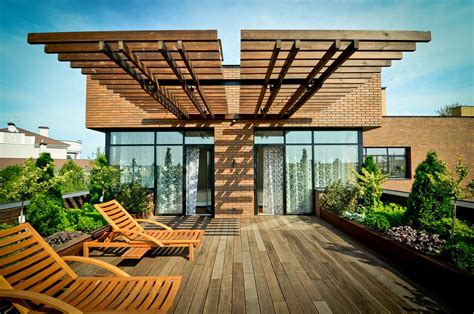 Rooftop Patio Design Roof Terrace Large Family Residence In Kiev Ukraine