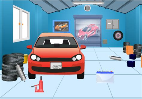 garage cartoon g2w garage escape walkthrough