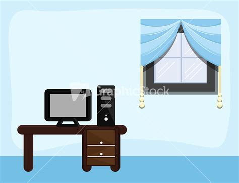 Home Drawing Room Interiors study room cartoon background vector