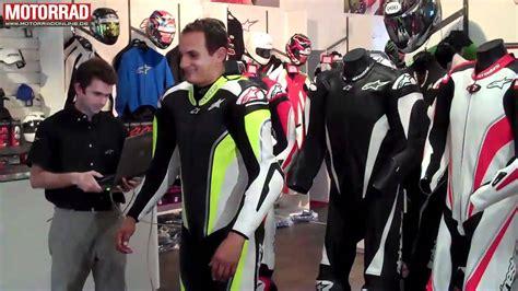 Motorrad Lederkombi Neongelb by Airbag Lederkombi Alpinestars Tech Air Race Youtube