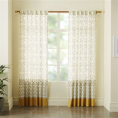 cotton canvas curtains cotton canvas medina border curtain west elm if you do