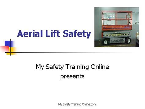 Aerial Lift Safety V5 Authorstream Aerial Lift Safety Program Template