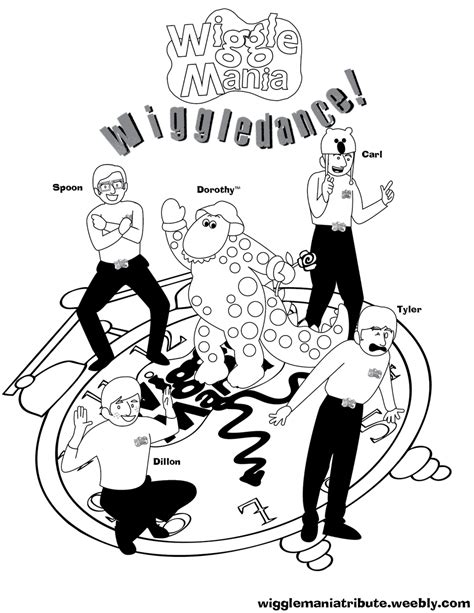 Wigglemania On Twitter Quot Here S A Wiggledance Coloring The Wiggles Colouring Pages