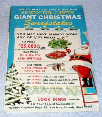 vintage ephemera spencer gifts christmas mail order