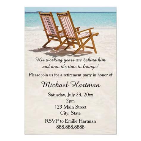 retirement invitation chairs retirement invitations zazzle
