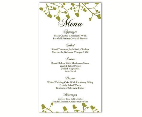 Wedding Menu Template Diy Menu Card Template Editable Text Word Inside Menu Template Free Word Free Menu Templates For Word