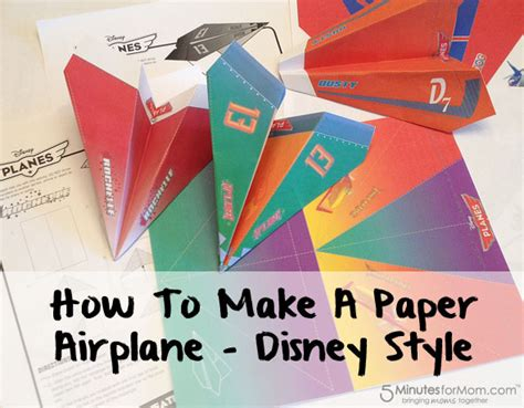 How To Make A Paper Airplane That Turns - how to make a paper airplane disney planes style