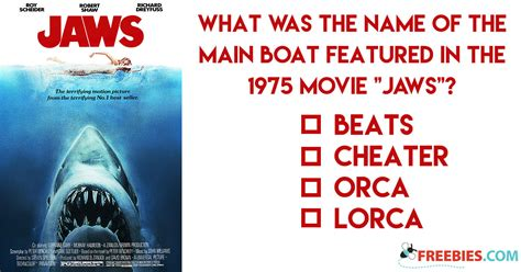 boat in jaws name trivia what was the name of the boat in jaws
