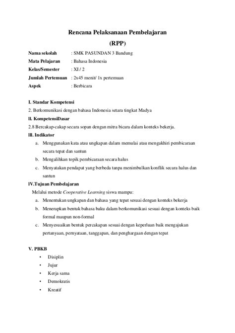format email formal indonesia kd 2 8 rpp bahasa indonesia smk xi