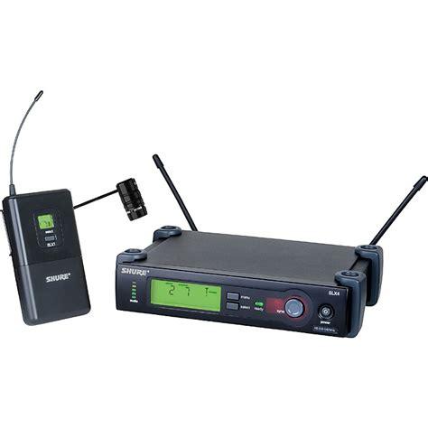 Microphone Wireless Shure Slx 282 shure slx lavalier wl185 wireless system musician s friend