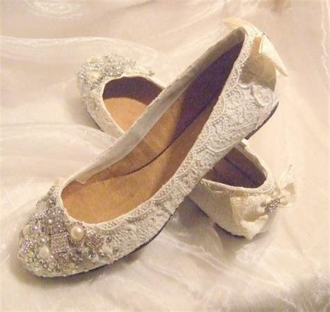 flat shoes vintage flat wedding shoes with vintage lace ipunya