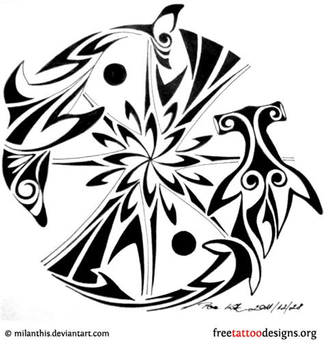 tribal dolphin tattoos designs 35 dolphin tattoos and designs