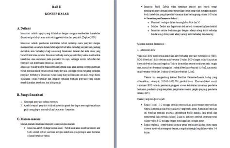 format asuhan keperawatan masyarakat contoh makalah imunisasi bayi contoh makalah docx