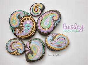 Handmade Grandparent Gifts Paisley Painted Rocks