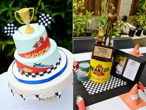 Vintage Cars And Drag Racing Themed Baby Shower And Party Classic Car Centerpieces