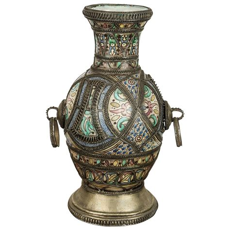 Vintage Etnik Cina Se 10 antique moroccan ceramic vase from fez at 1stdibs