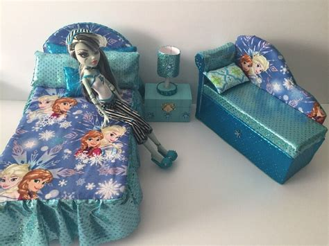 barbie  disney dollsfurniture bedroom setbedsofalamp