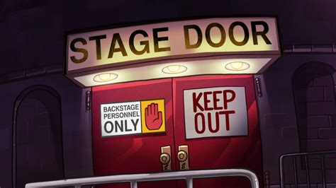 Stage Door by Image S1e17 Stage Door Png Gravity Falls Wiki Fandom