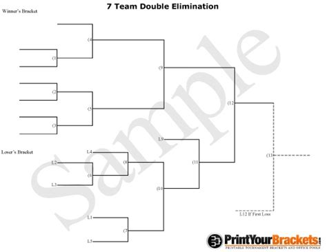 free printable volleyball brackets 7 team double elimination tournament bracket printables