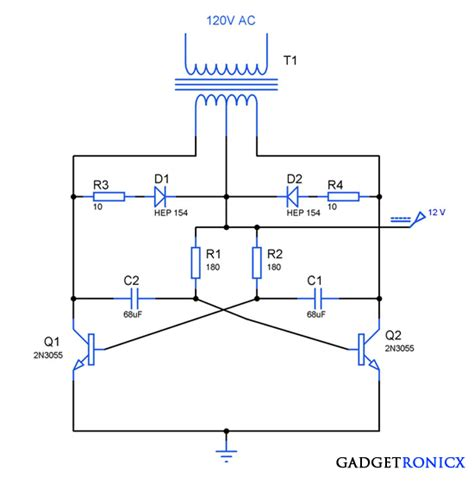transistor darlington circuit basic inverter circuit using transistors gadgetronicx