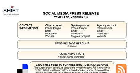 social media press release template selling social media to your clients webdesigner depot