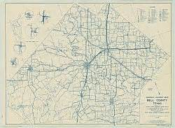 map of bell county bell county historical county map 1936