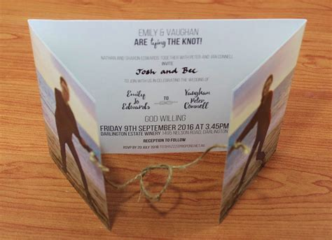 Tie the Knot with these Wedding Invitations   WA Weddings