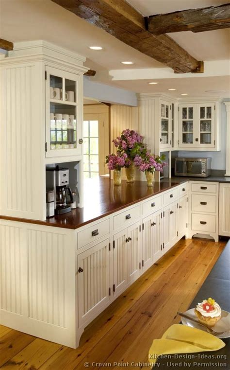 White Kitchen Cabinets With Wood Countertops Pictures Of Kitchens Traditional White Kitchen Cabinets Kitchen 119