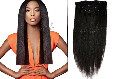 light yaki clip in human my fab look with relaxed hair extensions onyc