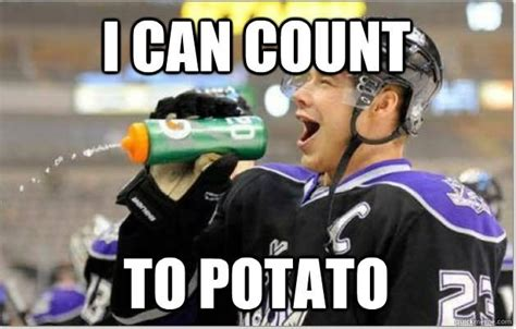 I Can Count To Potato Meme - 27 most funny hockey meme images photos gifs pictures