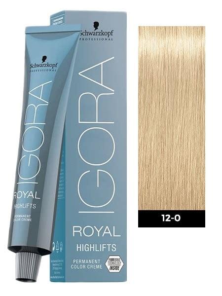 how to process igora royal schwarzkopf igora royal highlifts 12 0 special blonde