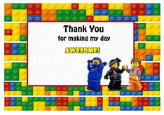 lego thank you card template lego thank you cards birthday printable