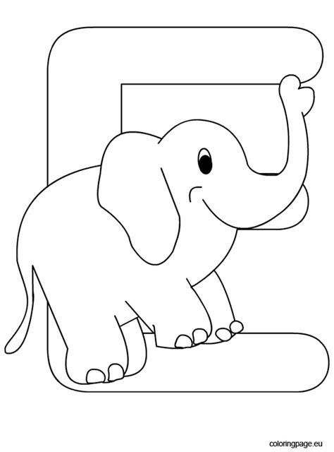 coloring pages letter e alphabet letter e coloring page