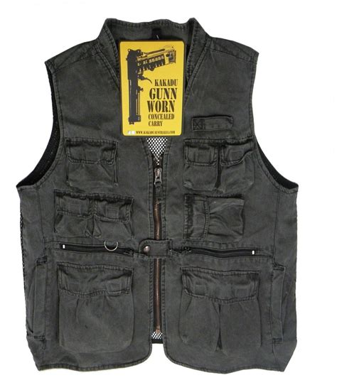 Vest Casing Anti Radiasi gibson concealed carry ventilator vest charcoal gunn worn