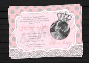 princess in progress baby shower invitation digital