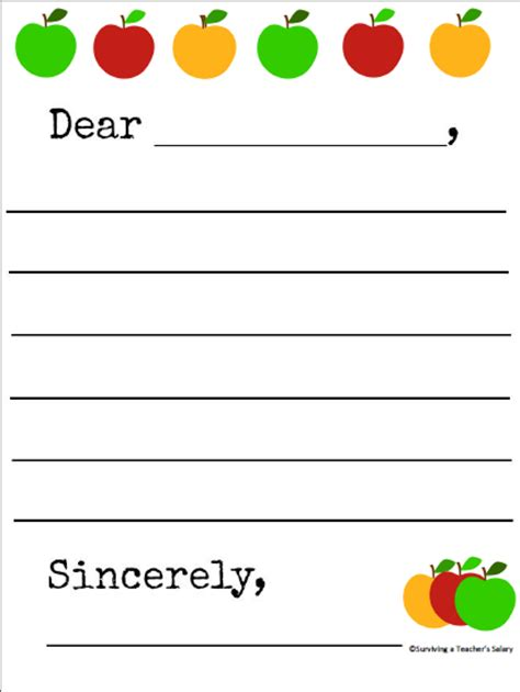 7 best images of printable friendly letter writing