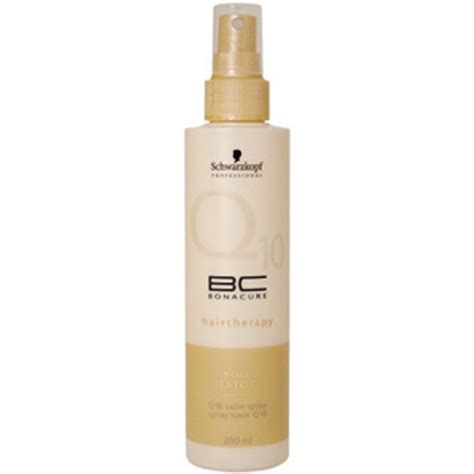 Q10 Bonacure Hair Therapy schwarzkopf bc bonacure time restore q10 satin spray 200ml free shipping lookfantastic