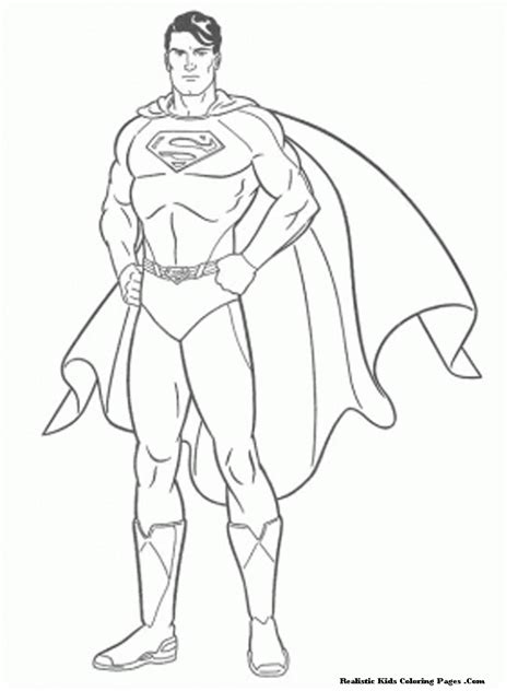 superman the man of steel kids colorig pagesfree coloring