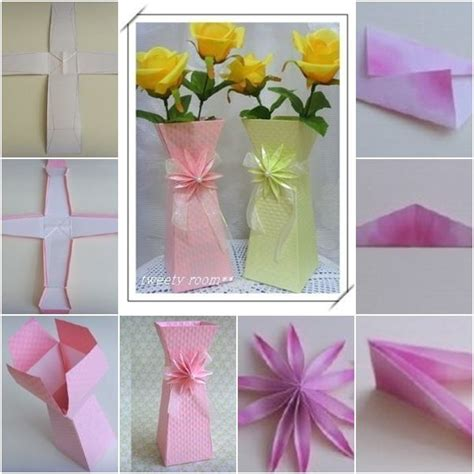 Make Flower Vase Home by How To Make Beautiful Paper Flower Vase Papers