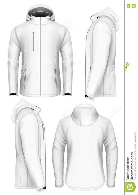 design a jacket online free men hooded softshell jacket design template stock vector
