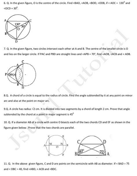 jsunil tutorial questions maths worksheets for class 9 sa1 class 9 x cbse r s